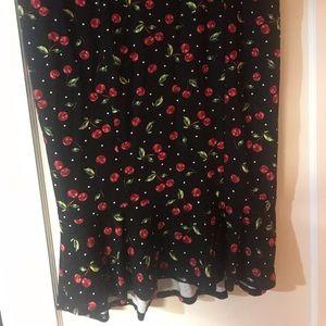 Torrid retro cherry print skirt